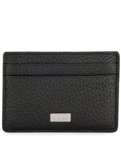 This is the BOSS Black Soft Grain Crosstown Card Holder with Money Clip.