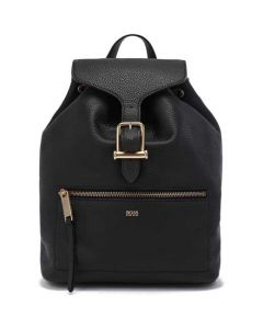 This is the BOSS Black Kirstin Drawstring Backpack.