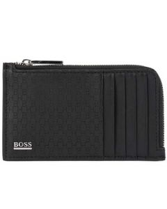 This is the BOSS Black Lasered Monograms 5CC Zipped Coin Case.