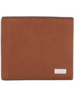 This is the BOSS Crosstown Light Brown Soft Grain 4CC Billfold Wallet.