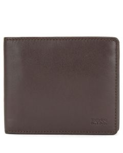 This is the BOSS Dark Brown Leather Majestic 4CC Wallet.