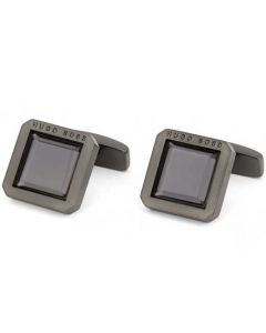 These are the BOSS Faceted Enamel Insert Square Cufflinks.