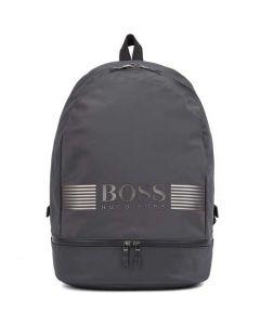 This is the Hugo Boss Pixel Dark Grey Nylon Backpack.