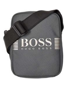 This is the Hugo Boss Pixel Dark Grey Mini Nylon Cross Body Bag.