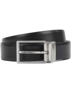 This is the BOSS Reversible Monogram Plaque and Pin Buckle Belt.