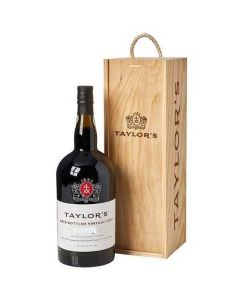Taylor's 2015 Late Bottled Vintage Port 150cl Magnum Bottle inside the wooden presentation box.