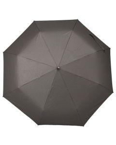 Hugo Boss Loop pocket umbrella with the dark grey nylon canopy fully open.