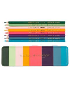 These are the Paul Smith x Caran d'Ache SUPRACOLOR® 8 Pencil Set in Artist Stripe Tin.