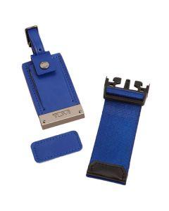The TUMI blue accents kit.