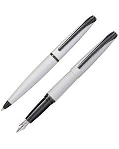 This is the Cross Brushed Chrome ATX Ballpoint and Fountain Pen Set.