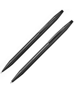 This is the Cross Black Classic Century Micro-Knurl Detail Ballpoint Pen & 0.7mm Pencil set.