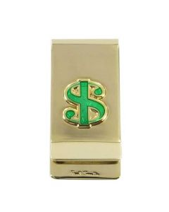 This Paul Smith money clip comes with a dollar emblem on the front.