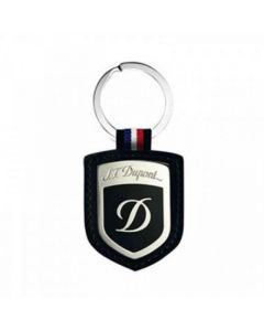 S.T. Dupont Black Smooth Leather Shield Key Ring.