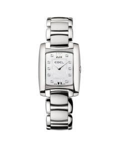 Ebel Ladies Brasilia Mini Silver Steel Watch with Pearl and Diamonds.