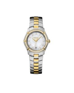 Ebel Ladies Classic Sports Steel, Pearl and Yellow Gold Watch.