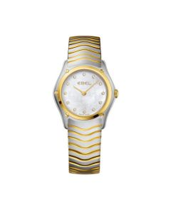 Ebel Ladies Wave Steel and Gold Pearl Watch