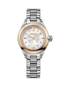 Ebel Onde Ladies Watch - 18K Rose Gold Bezel and 12-Diamond Crown.