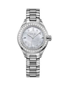 Onde Ladies' Watch - 38 Diamond Stainless Steel, 12-Diamond Crown