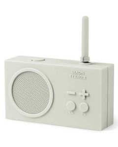 This white radio has been created by Lexon as part of their Tykho 2 range.