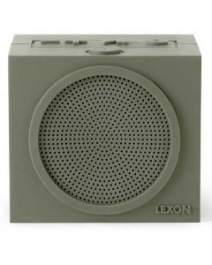 This light grey speaker has been created by Lexon as part of their Tykho range.