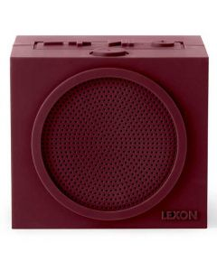 This burgundy speaker has been designed by Lexon for their Tykho collection.