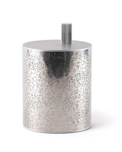 This silver speaker has been designed by Lexon for their Cylindre collection.