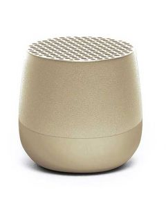This light gold speaker has been designed by Lexon as part of their Mino range.