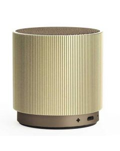 This is the gold Lexon Fine Speaker.