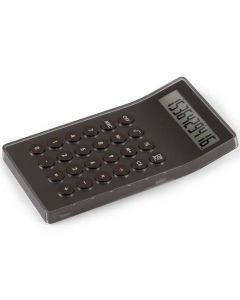 This brown calculator has been designed by Lexon.
