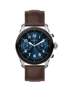 This brown leather watch has been designed by Montblanc for their Summit collection.