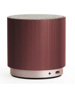 This burgundy speaker has been created by Lexon for their fine speaker collection.