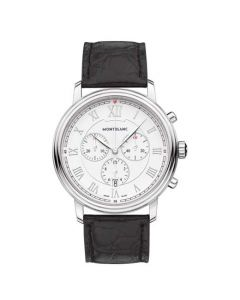 This Montblanc watch has been designed as part of their Tradition collection.
