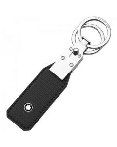 This Montblanc leather and stainless steel keyring is part of their Extreme collection.