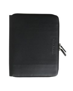 Front closed view of the Hugo Boss black Spot A5 folder.
