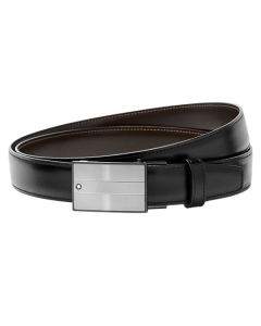 Montblanc classic line black/brown reverisble belt wrapped up.