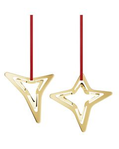 These are the Georg Jensen 18 KT. Gold Plated 2021 Star Ornaments.