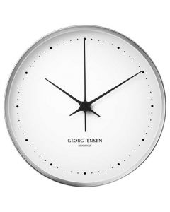 The Georg Jensen HK white stainless steel 30cm wall clock.