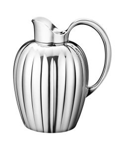 This is the Stainless Steel Bernadotte 1.6L Pitcher designed by Georg Jensen.
