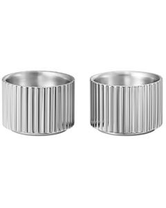 This is the Georg Jensen Stainless Steel Bernadotte Egg Cup Set.