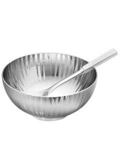This is the Georg Jensen Stainless Steel Bernadotte Salt Cellar & Spoon.