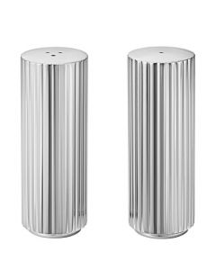 These are the Georg Jensen Stainless Steel Bernadotte Salt & Pepper Shakers.