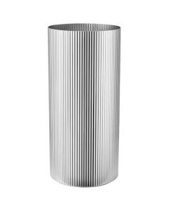 This is the Georg Jensen Stainless Steel Bernadotte Large Vase.