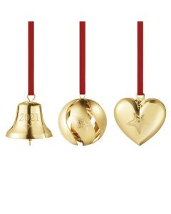 This is the Georg Jensen 18 KT. Gold Plated 2021 Christmas Gift Set.