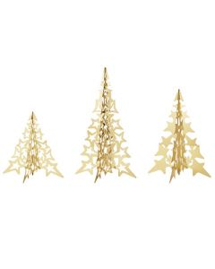 These are the Georg Jensen 18 KT. Gold Plated 2021 3 Pcs. Star Tree Set.