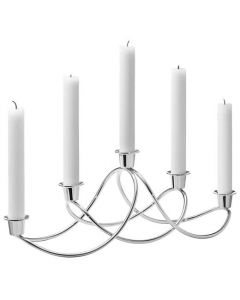 This is the Georg Jensen Mirror Polished Stainless Steel Harmony Candle Holder.