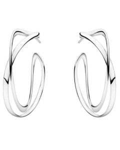 These are the Large Georg Jensen Sterling Silver Infinity Earhoops.