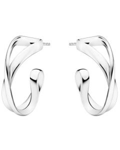 These are the Georg Jensen Sterling Silver Infinity Earhoops.