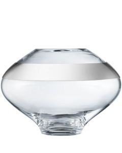 This is the Georg Jensen Mouth-Blown Glass & Stainless Steel Large Duo Vase.