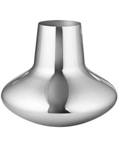 This is the Georg Jensen Mirror Polished Stainless Steel Koppel Large Vase.