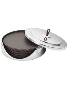 These are the Georg Jensen Manhattan Set of 4 Coasters.